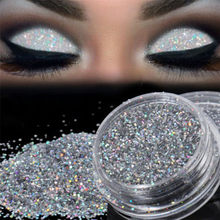 2017 Nieuwe Merk 1 Doos Fashion Sparkly Make Glitter Losse Poeder Zilver Eye Pigment Makup Glitter(China)