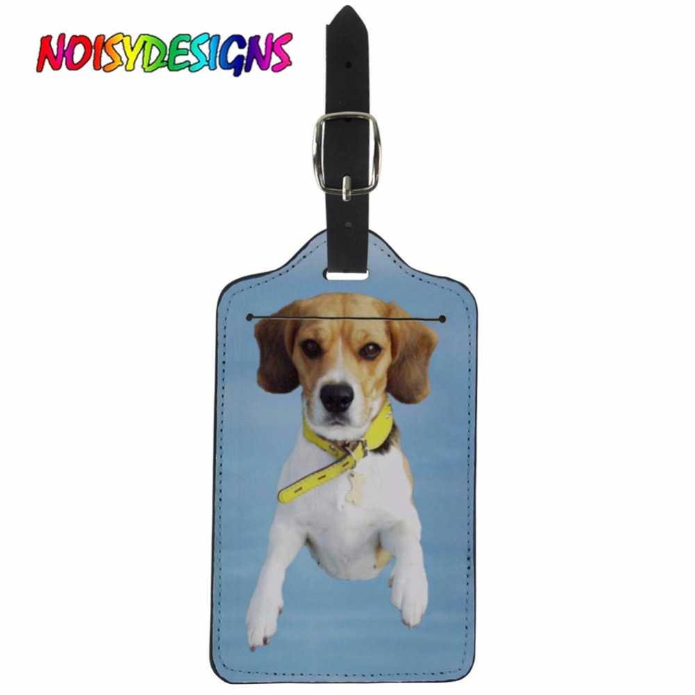 NOISYDESIGNS Travel Accessories Baggage Boarding Tags Luggage Tag Animals Beagle Suitcase ID Addres Holder Portable Label