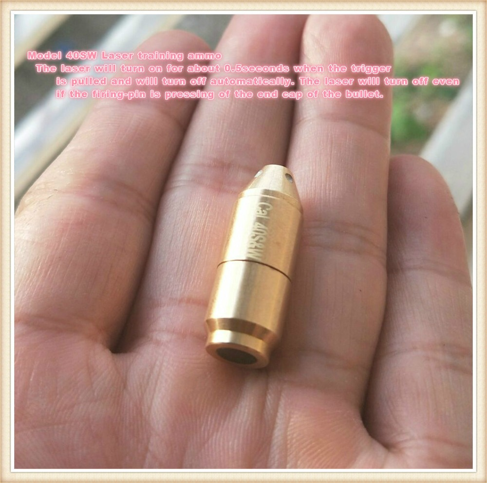 40S&W with 50ms delay Laser Ammo,Laser Bullet, Laser Cartridge for Dry Fire training and shooting simulation