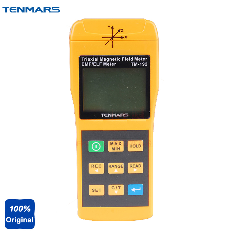 TM-192 3-Axis Electromagnetic Radiation Detectors Magnetic Field Meter Extremely Low Frequency (ELF) of 30 to 2000Hz