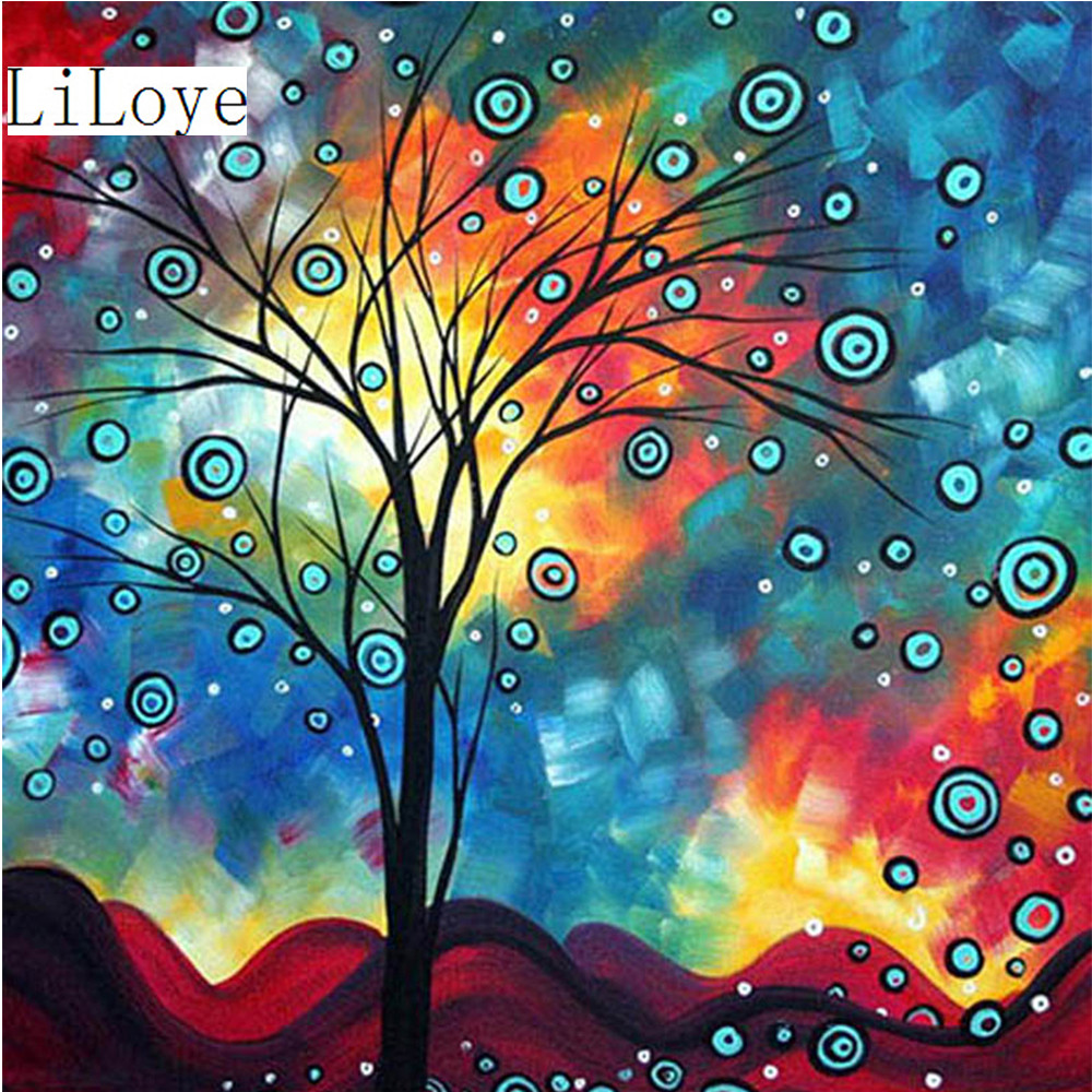 Li loye diy diamond painting abstract rhinestone pasted for Definicion de pintura mural