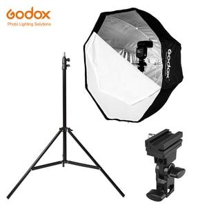 Image 1 - Godox 31.5in 80cm Octagon Umbrella Softbox 200cm Light stand Umbrella Hot Shoe Bracket Kit for Speedlite Flash