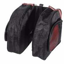 Bicycle Double Zipper Luggage Bag Road MTB Bike Rear Seat Bag Pannier Cargo Carrier Container Bag Outdoor Sports Bike Saddle Bag