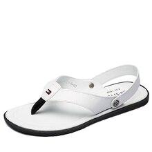 Soft Men's Leather Sandals 2016 Summer Fashion Driving Sandals for Men British Style Breathable Antiskid flip flops sandals MALE