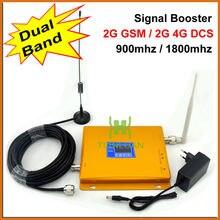 ЖК-Дисплей! GSM 900 DCS 1800 МГц МГц Dual Band Мобильный Телефон Усилитель Сигнала 2 Г 4 Г Сигнал Повторителя Усилитель Сигнала с Антенной
