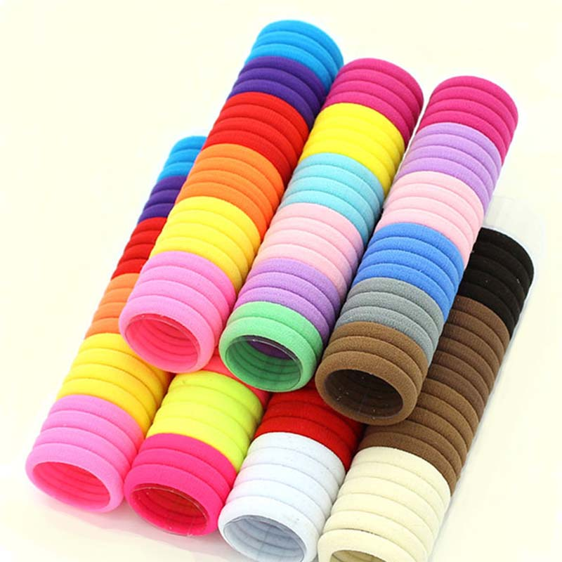 3cm 50pcs/lot Hair Accessories kids Rubber bands Scrunchie  Elastic Hair Bands Girls Headband decorations ties  Gum for hair(China)