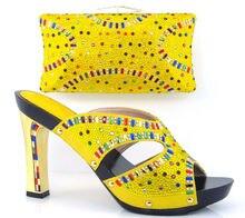 Artikel-nr. DF16-102-YELLOW Lady'sl Passenden Schuhe Und Taschen für Hochzeit