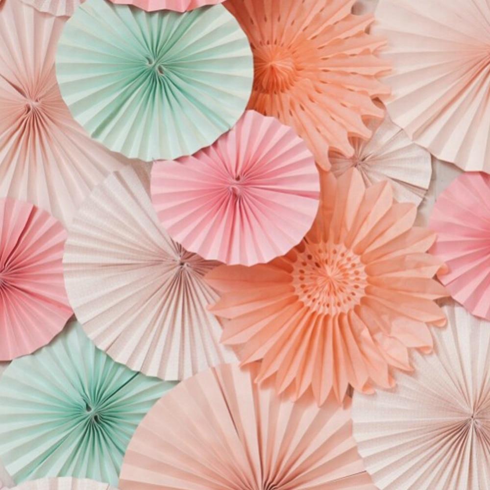 Mariage Decoration Paper Fan 3pcs/Lot 20cm Wholesale/Retai Tissue Paper Fan Crafts Party Wedding Home Decorations Birthday