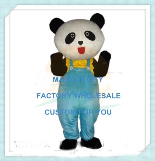 (formato Del Bambino) Pantaloni Blu Lovely Little Panda Del Bambino Del Costume Della Mascotte Per I Bambini Bambini Scuola Prestazioni Costume Di Scena Puntelli Sw1226