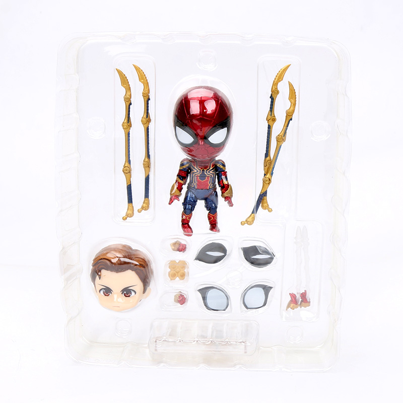 10cm Marvel Toys Nendoroid 1037 the Avengers Endgame Iron Spiderman PVC Action Figure Iron Spider Super Hero Collectible Model 1