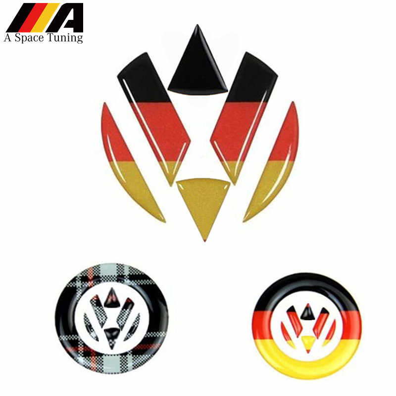 Car Styling Germany Flag Steering Wheel Front Rear Emblem Badge Logo Sticker Decal For VW 6 MK6 7 MK7 Sagitar Polo Tiguan Passat