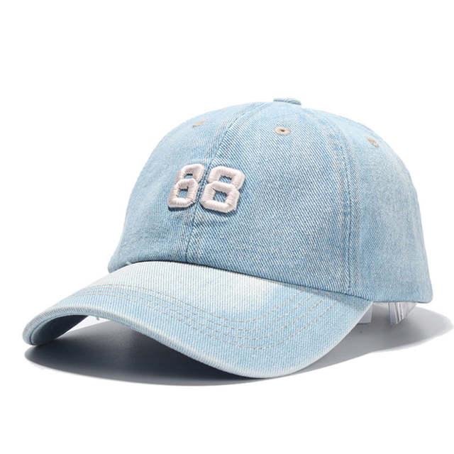 69424202346 placeholder  LIBERWOOD  Men Women denim fabric jean Baseball Cap embroidery  88 adult casual Hat Sports