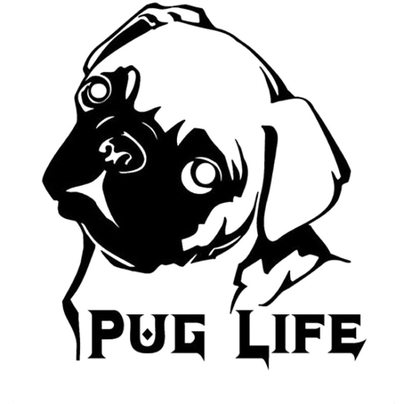 Download Aliexpress.com : Buy 15.7CM*17.8CM Pug Life Doggie Style ...