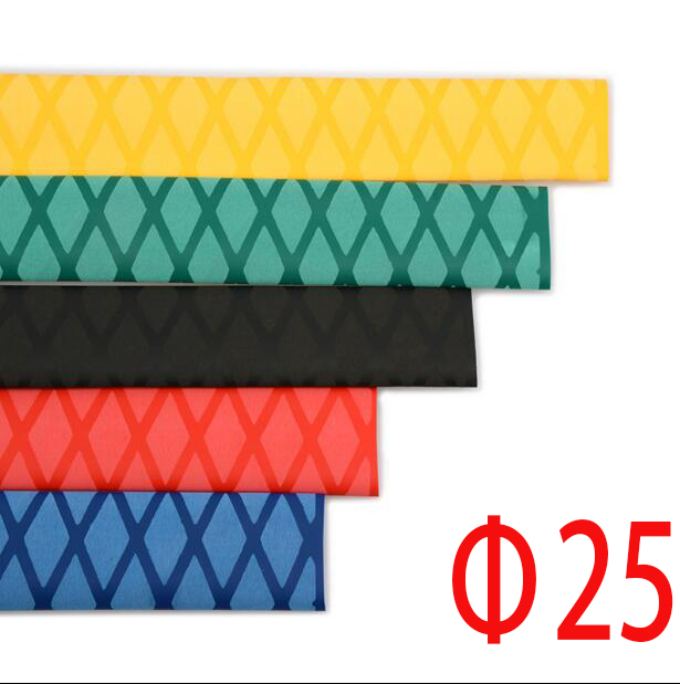 Diameter 25mm Tube Heat Shrink Tubing Pattern Tube Non-slip For Fishing Rod 1 Meter