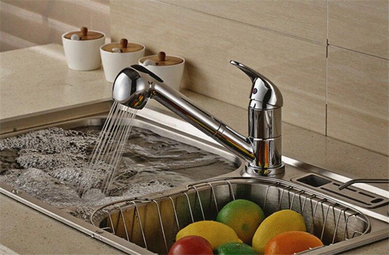 Nickel gebürstet ABS Herausziehen Spray Küchenarmatur Ersatz Dusche ...