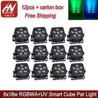 12 stücke RGBWAUV 6 led * 6in1 18 w akku dmx drahtlose wifi uplight bühne par können licht-in Bühnen-Lichteffekt aus Licht & Beleuchtung bei