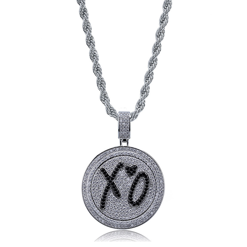 Spinner Pendant Necklace New Arrival AAA Zircon Heart XO Celebrity Style Mens Necklace Fashion Rap Hip Hop Jewelry