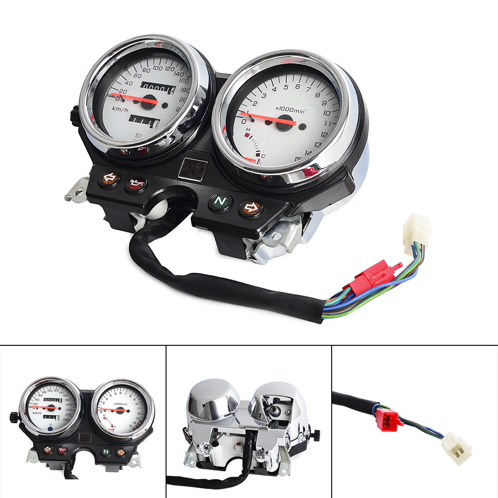 Motorcycle Gauge Cluster Speedometer For <font><b>Honda</b></font> CB600 <font><b>Hornet</b></font> <font><b>600</b></font> 1996 1997 1998 1999 2000 <font><b>2001</b></font> 2002 Hornet600 NEW image