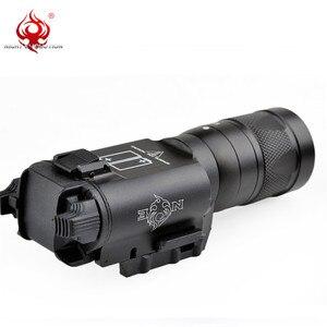 Image 4 - Night Evolution Surefir X300 Tactical Pistol Flashlight LED300 Lumens Fit 20mm Rail Strobe Pistol Light Weapon Gun Light NE01010
