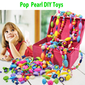 2016 Pop bead pearl children diy blocks Accessories Jewelry toy Set B for girl  intelligence kids early education gifts