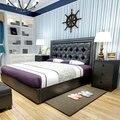 Diseño moderno muebles de dormitorio cama suave cama, lado de la cama, colchón