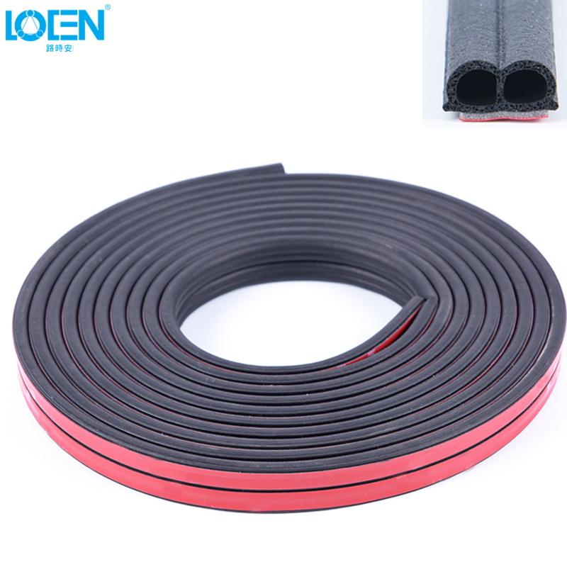 Car-Styling Upgrade B Type Car Sealing Strips Noise Insulation Windproof For Door Eege Front Cover Trunk 5 Meters/Roll Universal
