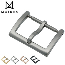 MAIKES WRIST WATCH 20mm NEW HIGH QUALITY WIRE DRAWING PROCESS BUCKLE DEPLOYMENT SOLID DRILLED FIBULA