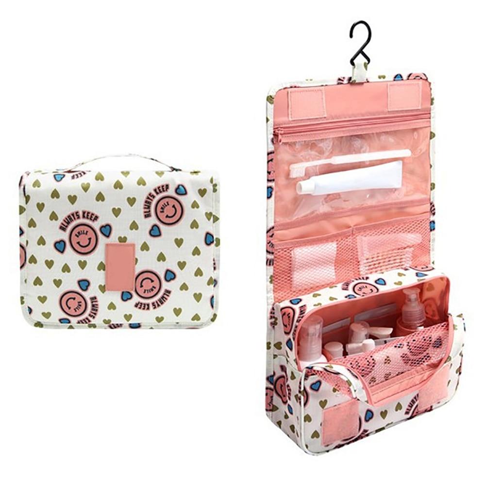 Portable Women Travel Cosmetic Bag Hanging Wash Make Up Organizer Daily Supplies
