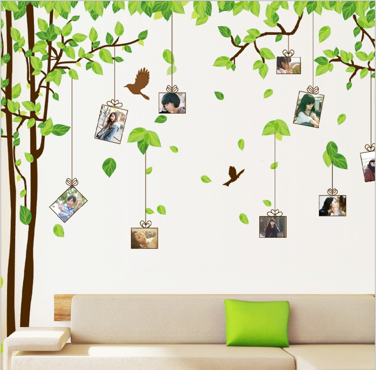 Aliexpress Com Buy Free Shipping Home Decor Accessories Furnishings Tv Background Wall Wallpaper Bedroom Wall Memory Tree Wall Stickers Photo Frame From