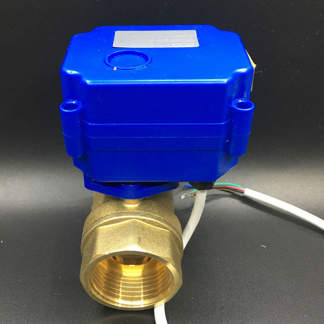 "Hot Sales DC12V BSP 1"" Motorized Ball Valve DN25 Electric Automatic Valve 5 Wires With Signal Feedback"