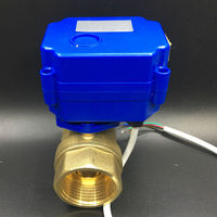 DC12V Motorized Ball Valve DN25 Electric Automatic Valve With Position Feedback BSP 1 Mini Electric Valve