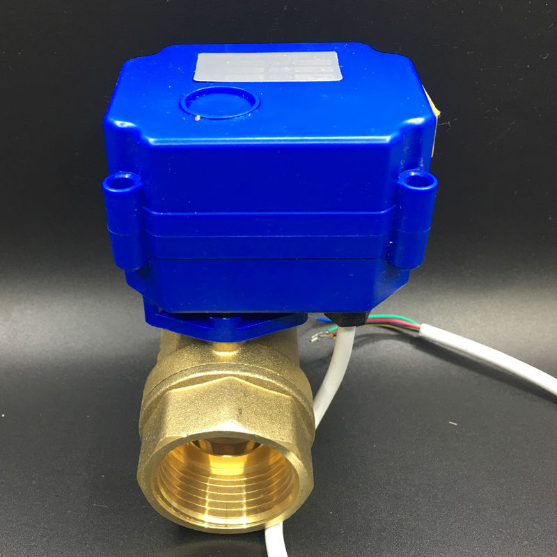 Ventes chaudes DC12V BSP 1 Motorisé Ball Valve DN25 Électrique Vanne Automatique 5 Fils Avec Retour Du Signal