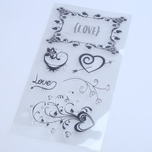1PCS/LOT Transparent Stamp LAVE Heart For DIY Scrapbooking/Card Making/ Decoration Supplies