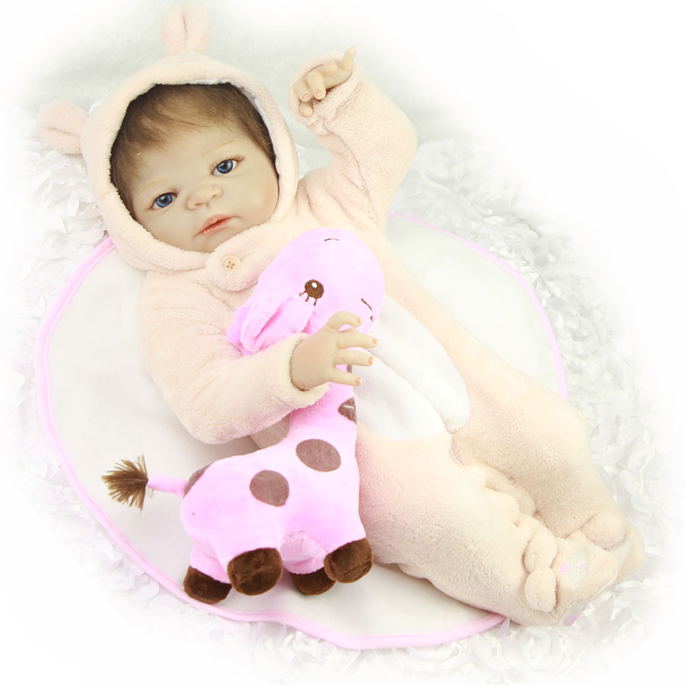 True To Life 23 Babies Reborn Dolls Girl Lifelike Full Body Silicone Baby Dolls Cosplay Rabbit So Truly Boneca Brinquedos