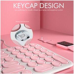 Image 5 - B.O.W سلك لوحة المفاتيح 96 مفاتيح مستديرة ، فائقة النحافة السلكية USB ميناء KB التوصيل والتشغيل كتابة مريحة للكمبيوتر/الكمبيوتر/الكمبيوتر المحمول/ماك
