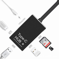 7 Port Type c to HDMI /HUB/SD/TF Card Reader Camera Reader SD Card Reader for Lightning to SD Card Connector Adapter