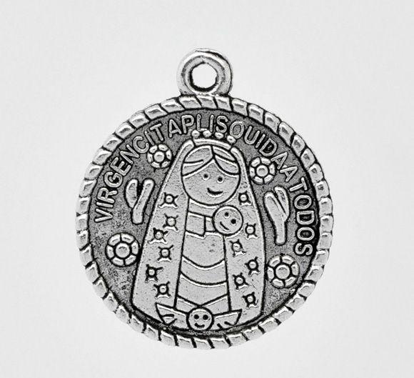 DoreenBeads Retail Antique Silver Virgencita Charm Pendants 25x22mm,sold Per Pack Of 30