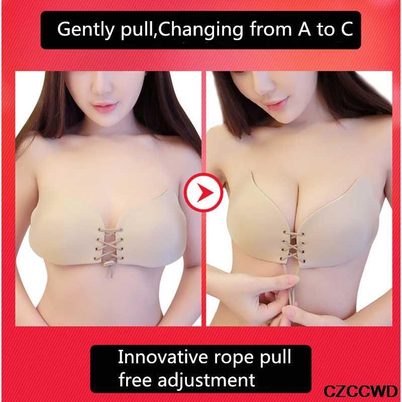 Sujetadores Push Up para mujeres sexys cubierta de pezón Invisible sujetador Adhesivo de silicona sin costuras trabajo vestido de fiesta sujetador adhesivo