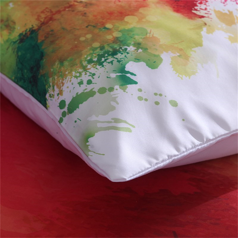 Image 4 - Colorful Bedding Set Watercolor splash Quality Cover Home King Queen Size Soft White Duvet Cover and Pillowcase-in Duvet Cover from Home & Garden