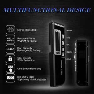Image 2 - נייד 8 גרם קול מקליט USB מקצועי 96 שעות השמעת דיקטפון הדיגיטלי אודיו סאונד מקליט קול עם WAV, MP3 נגן