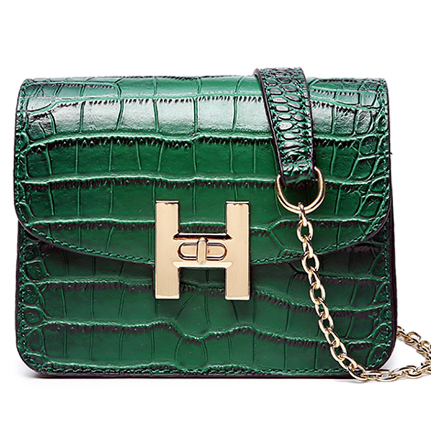 Fashion Small Flap Bag shoulder Bags Women Luxury Quilted alligator Chains Famous Brand Design Lady Messenger crossbody Bags 1 928 404 195 connectors terminals housings 100