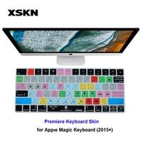 XSKN Keyboard Skin For Adobe Premiere Pro CC For IMac Magic Keyboard PR English Shortcut Hot