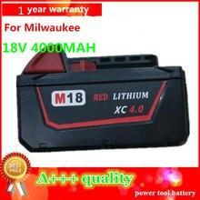 Ferramenta para Milwaukee Novo 18 V 4.0ah Li-ion Substituição DA Bateria M18 XC 48-11-1820 M18b2 M18b4 M18bx