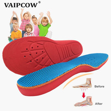 Kids Children Orthopedic Insoles for Children Shoes Flat Foot Arch Support Orthotic Pads Correction Health Feet Care Insole все цены