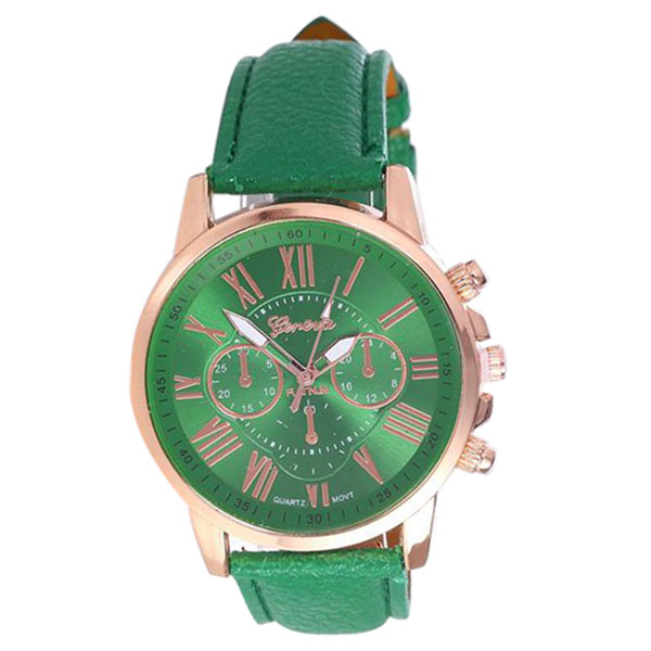 YCYS-GENEVA Fashion Roman numerals Six-pin dial quartz Watch Hot Green hello kitty apple новый ipad pro 10 5 yingcun защитного кожуха защитная оболочка мультфильм intelligent sleep кобуры градиент melody