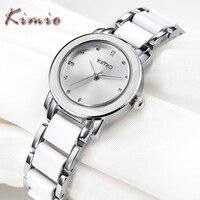 New Fashion KIMIO Branded Watches Women Luxury Geneva Quartz Watch Bracelet Wristwatch MIYOTA Japan Movt 3ATM
