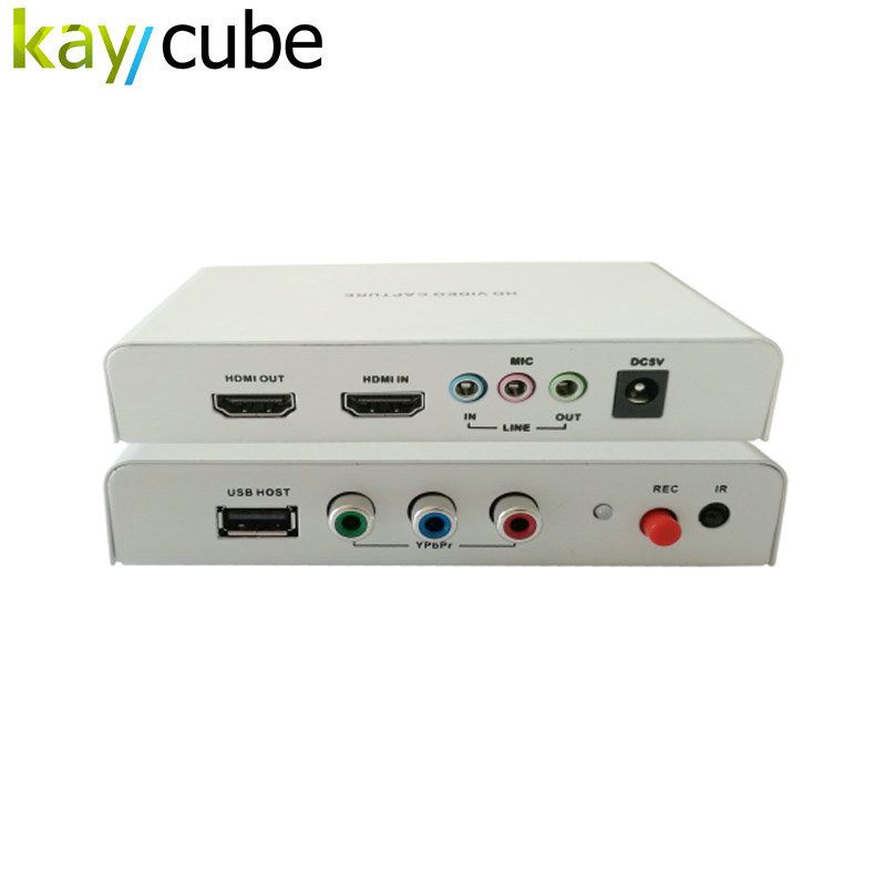 REL011 HDMI Game Capture 1080P HD Video Capture with Remote Controller, Support HDCP Protocol, YPBPR & HDMI Input Kaycube