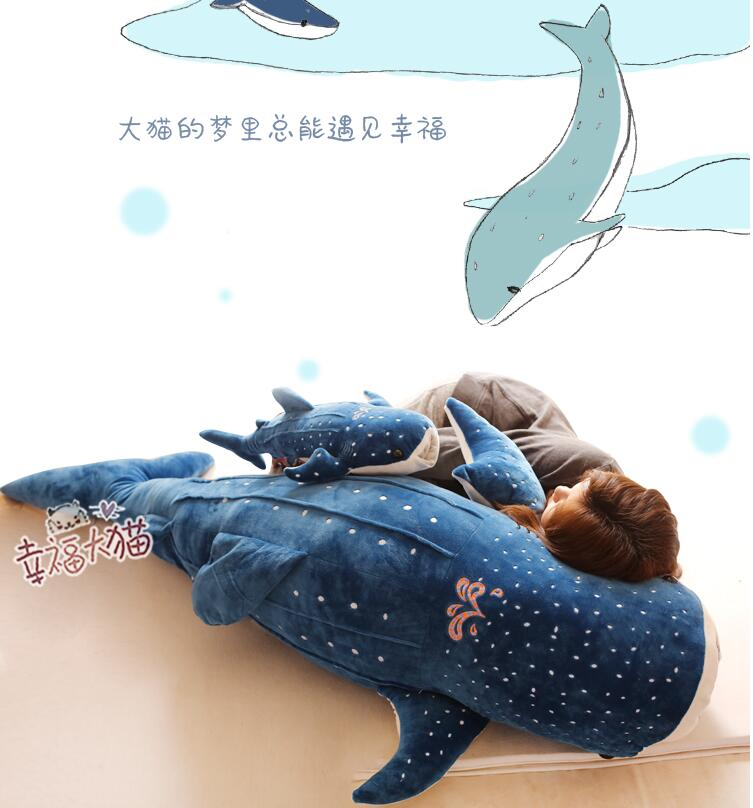 Candice Guo Plush Toy Stuffed Doll Cartoon Whale Sea