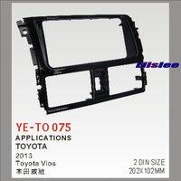Liislee 2 DIN ABS Plastic Frame Radio Fascia For Toyota Vios 2007~2013 Auto Stereo Interface Dash CD Trim Installation Kits