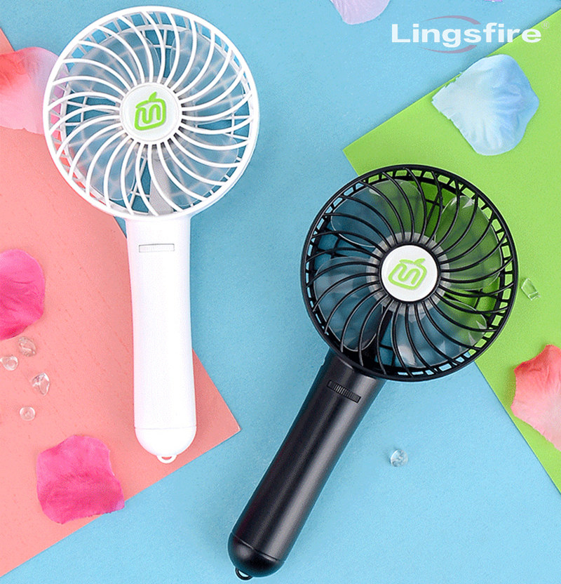 Mini Portable Fan Air Cooling USB Fan Travel Personal Handheld Fan With 18650 Rechargable Battery Gear Adjustment Wind portable 8 pin air fan